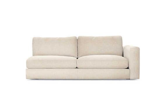 Reid One-Arm Sofa Right, Basket Weave