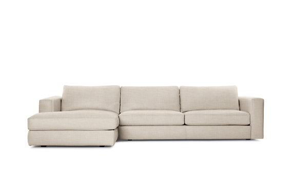 Reid Sectional Chaise Left, Basket Weave