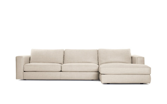 Reid Sectional Chaise Right, Basket Weave