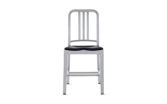 1006 Navy® Chair with Seat Pad, Brushed