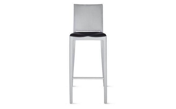 Hudson Barstool with Seat Pad, Brushed