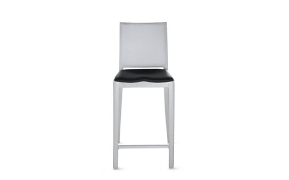 Hudson Counter Stool with Seat Pad, Brushed