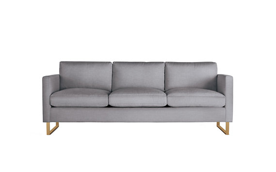Goodland Sofa, Basket Weave, Bronze Legs