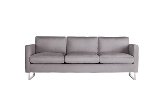 Goodland Sofa, Basket Weave, Stainless Legs