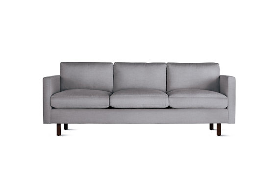 Goodland Sofa, Basket Weave, Walnut Legs