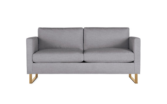 Goodland Two Seater Sofa, Basket Weave, Bronze Legs