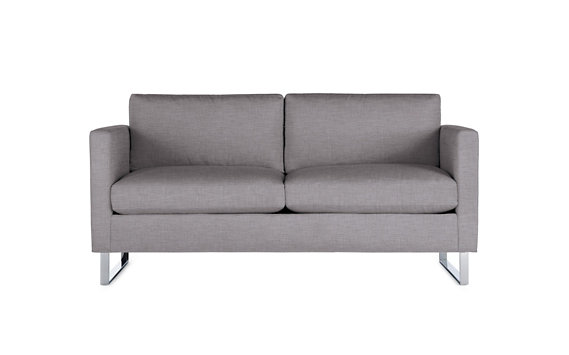 Goodland Two Seater Sofa, Basket Weave, Stainless Legs