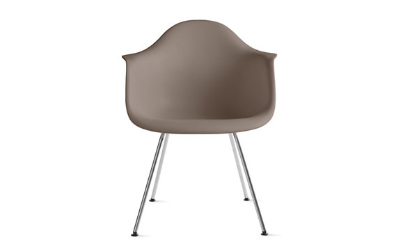 Eames® Molded Plastic 4-Leg Armchair (DAX), Chrome base