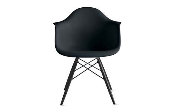 Eames® DAW, Black/Maple