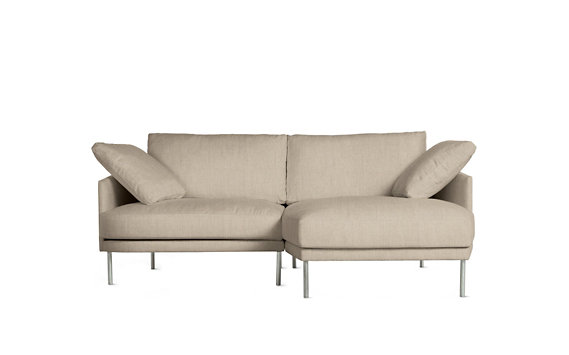 Camber Compact Sectional, Right, Lama Tweed, Stainless Legs