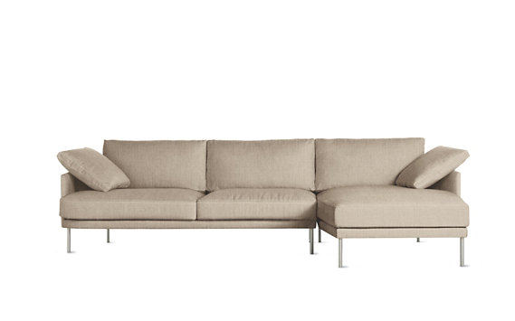 Camber Full Sectional, Right, Lama Tweed, Stainless Legs