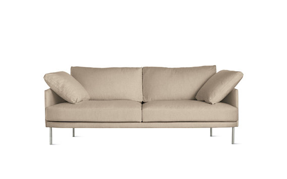 "Camber Sofa 81"", Lama Tweed, Stainless Legs"