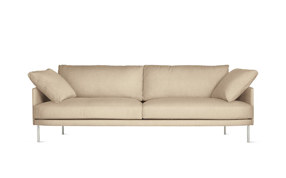 "Camber Sofa 93"", Lama Tweed, Stainless Legs"