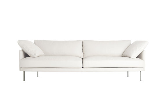 "Camber Sofa 93"", Encore Leather, Stainless Legs"