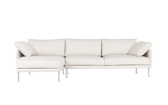 Camber Full Sectional, Left, Encore Leather, Stainless Legs
