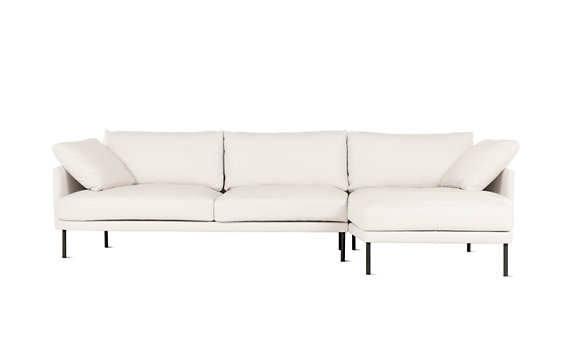 Camber Full Sectional, Right, Encore Leather, Onyx Legs
