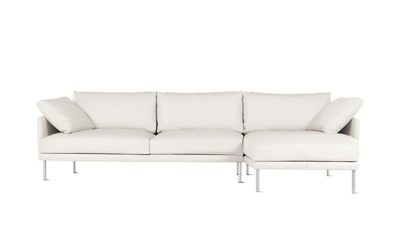 Camber Full Sectional, Right, Encore Leather, Stainless Legs