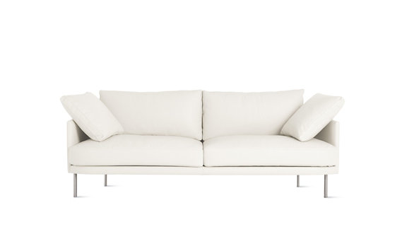 "Camber Sofa 81"", Encore Leather, Stainless Legs"