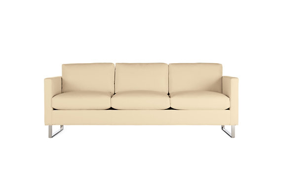 Goodland Sofa in Leather, Stainless Legs