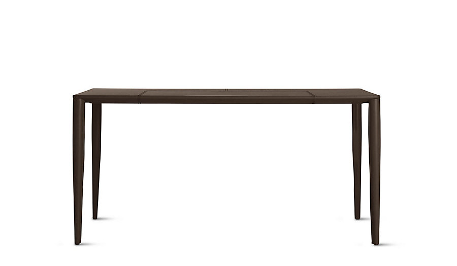 Bottega leather desk chocolate modern dwr design within for Design within reach desk