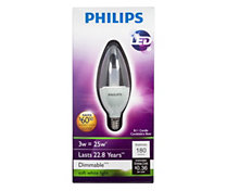 Philips 3W (25W) B11/E12 LED Light Bulb</span>