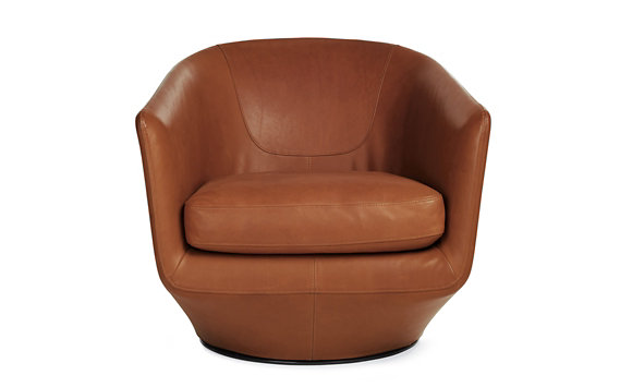 U-Turn Swivel Chair, Aquario Leather