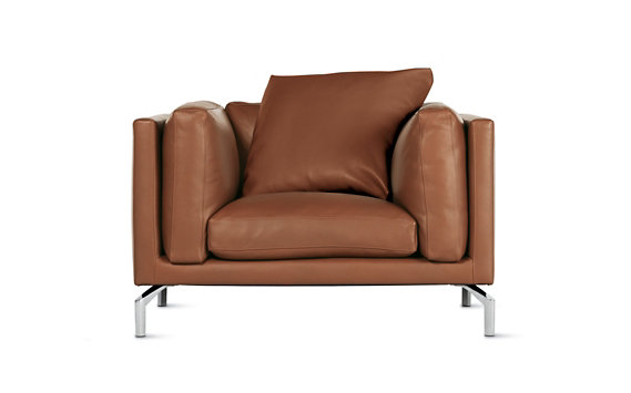 Como Armchair in Leather