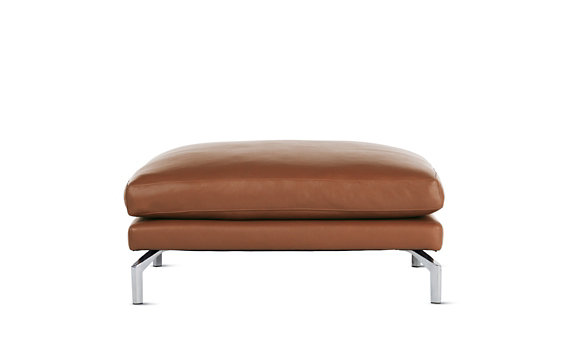 Como Ottoman in Leather