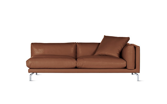 Como One Arm Sofa In Leather Right Design Within Reach