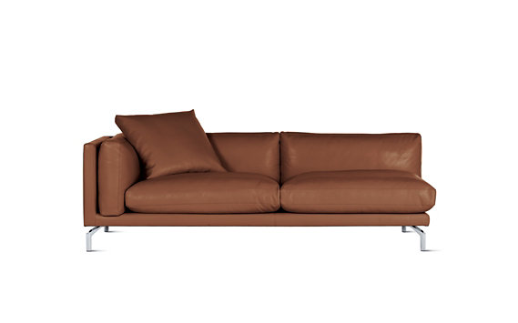 Como One-Arm Sofa in Leather, Left