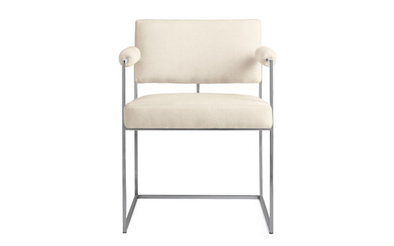 Milo 1188 Dining Chair, Cotton Velvet, Stainless
