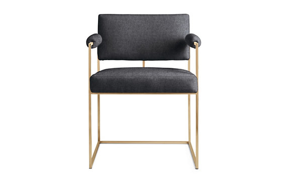 Milo 1188 Dining Chair, Cotton Velvet, Bronze