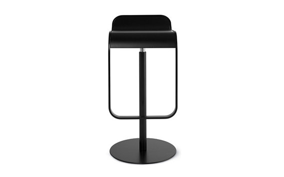 LEM Piston Stool with Lacquered Wood Seat
