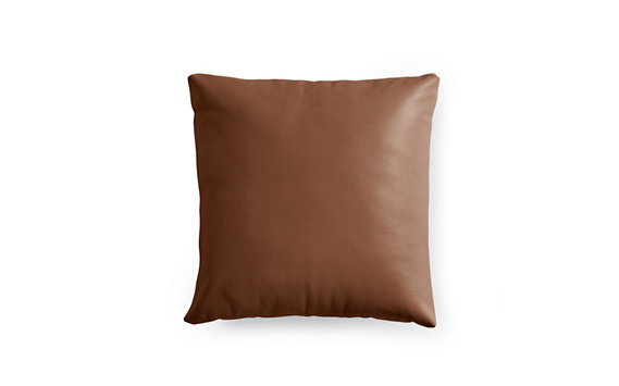 Como Throw Pillow in Leather