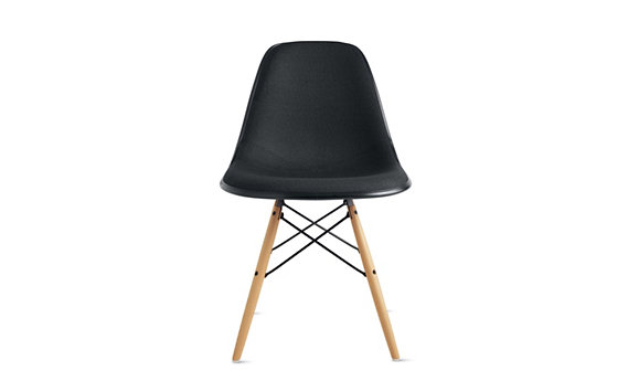 Eames® Upholstered Molded Fiberglass Dowel-Leg Side Chair (DFSW), Maple