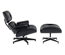 All-Black Eames® Lounge and Ottoman