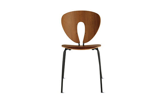 Globus Chair-Black Legs-Natural Veneer
