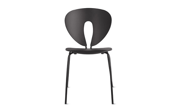 Globus Chair, Plastic with Powder-Coated Frame, Black