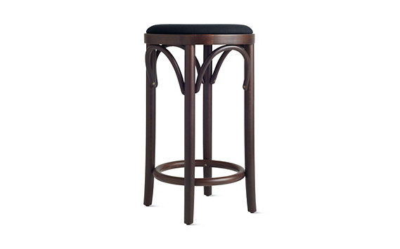 Era Backless Counter Stool with Upholstered Seat