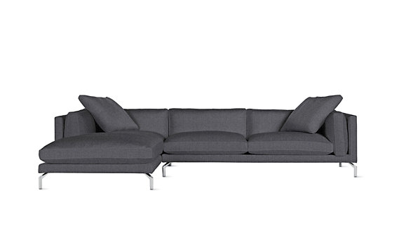 Como Sectional Chaise, Left, Pebble Weave