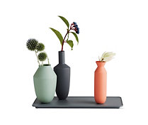 Balance Set, Three Vases on Rectangular Base