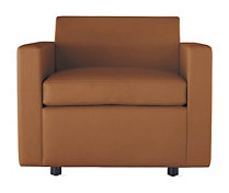 Bevel Armchair in Leather
