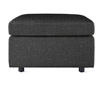 Bevel Ottoman in Fabric