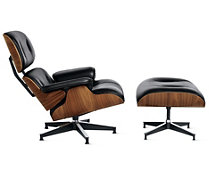 Eames® Tall Lounge Chair and Ottoman, Walnut/Vincenza