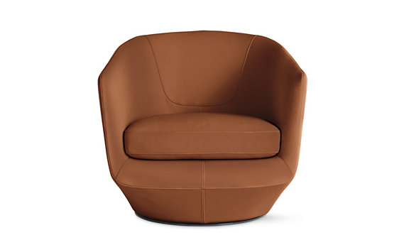 U-Turn Swivel Chair in Kalahari Leather