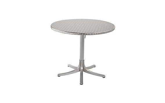 Inox Table, Large Round