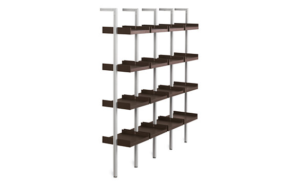 Treku Bookcase - 18 in. Complete Unit