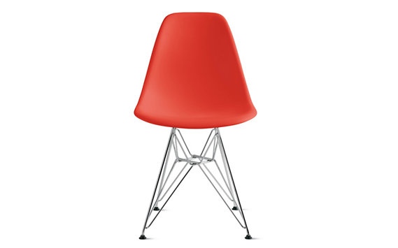 Eames® Molded Plastic Eiffel Side Chair (DSR), Chrome base