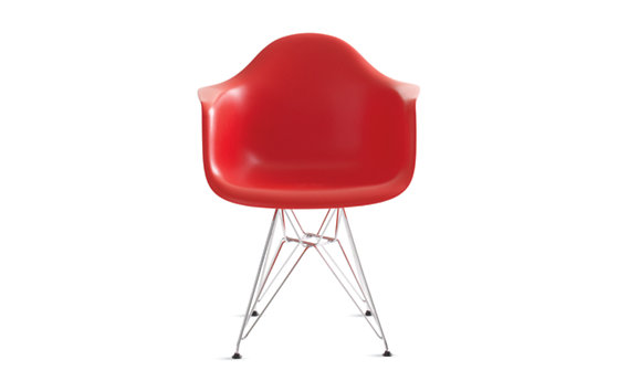 Eames® Molded Plastic Eiffel Armchair (DAR), Chrome base