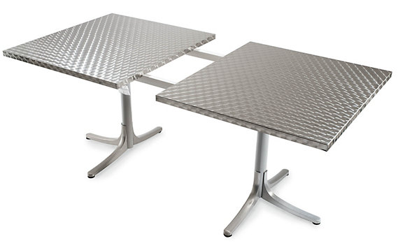Inox Table, Extendable